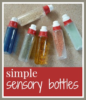 How to make simple sensory bottles for babies and toddlers