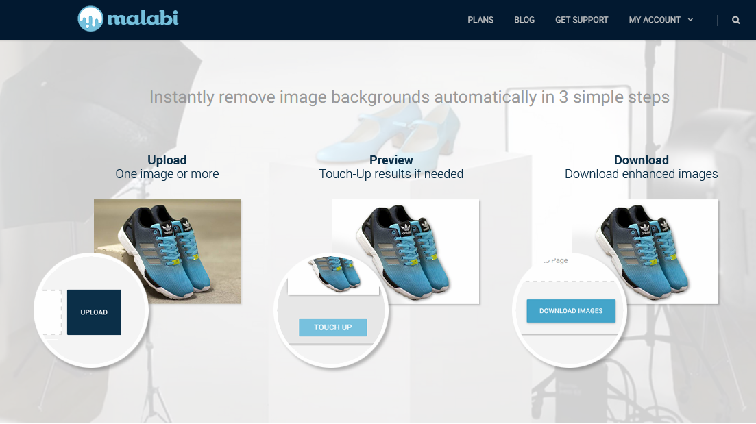 Malabi 自動去背免費線上工具,快速製作去背加陰影產品照片