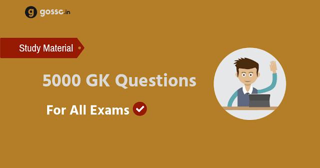 GK Questions SSC
