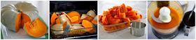 Roasting pumpkin in the oven