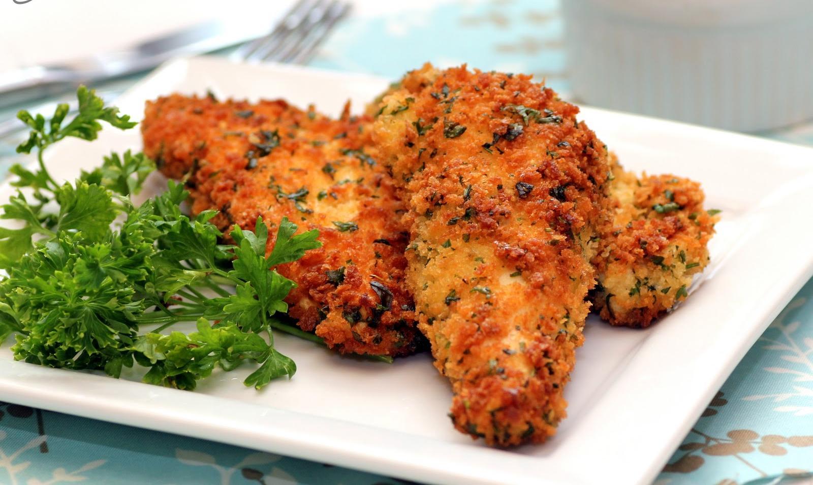 Healthy Breaded Chicken Fingers