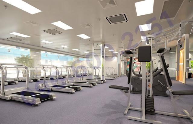 Phòng gym the garden hill - 99 trần bình