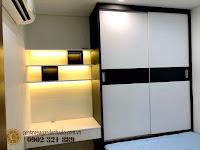 Căn hộ full nội thất tòa Orchid 2 HaDo Centrosa cho thuê - không gian phòng ngủ
