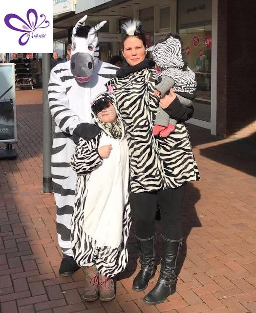 Zebra-Familie - Kostüm - Karneval