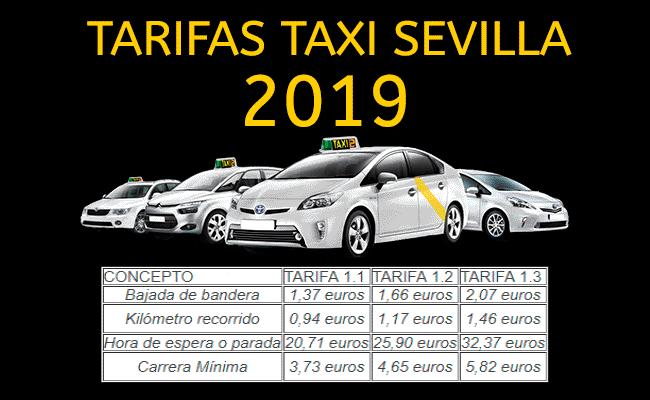 Tarifas Taxi Sevilla 2019