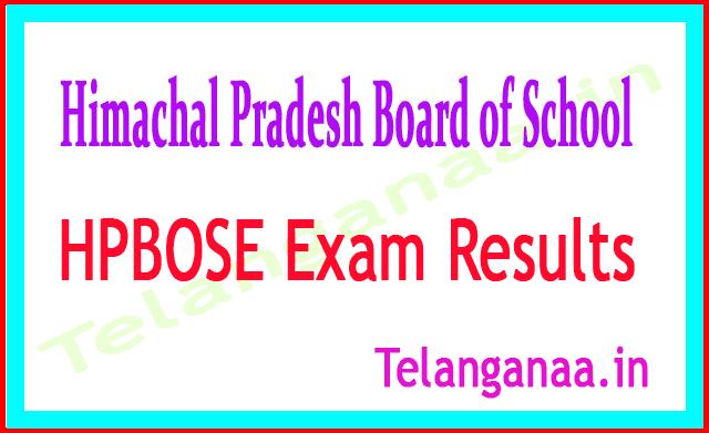 Himachal Pradesh Board of School Education SOS Plus Two 2018 Exam Results