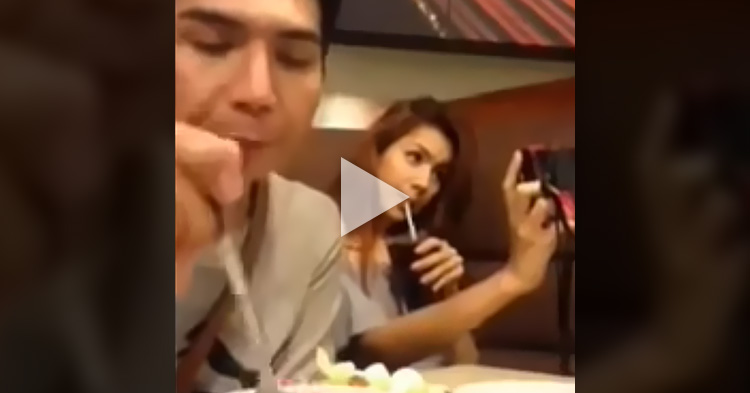 Man teaches his selfie addict Girlfriend a lesson