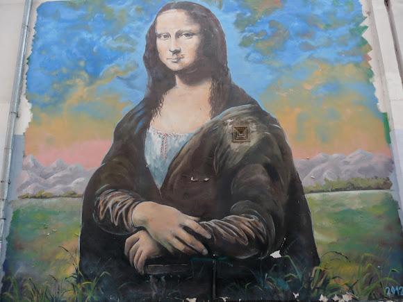 Суми. 8-метрове зображення Джоконди на фоні полів Сумщини