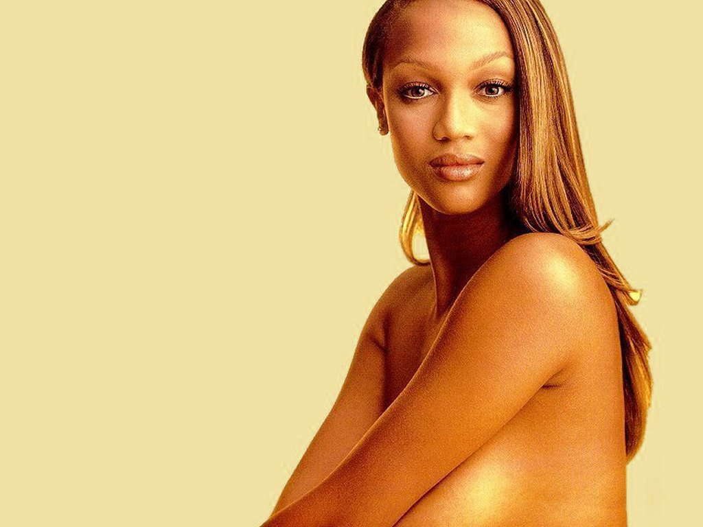 Crazy tyra banks half naked