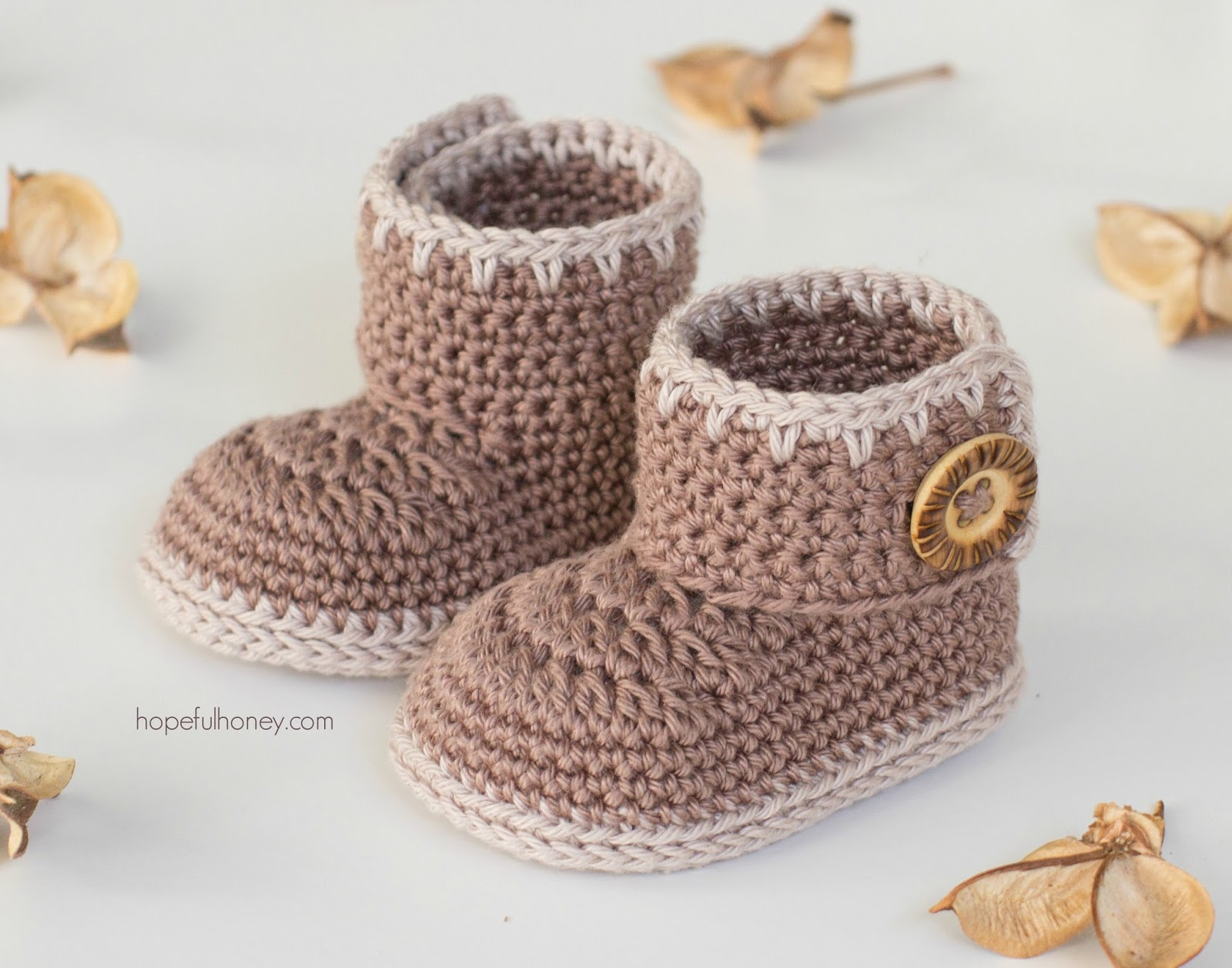 Hopeful Honey Craft, Crochet, Create: Cocoa Baby Ankle ...