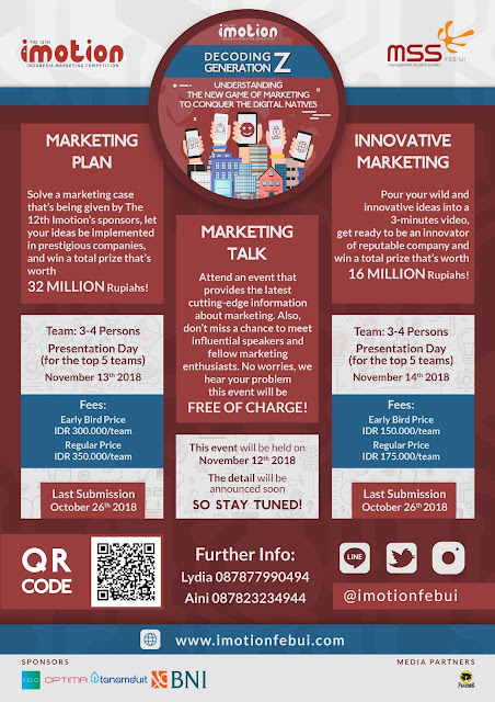 Contest Marketing Plan And Innovative Marketing Video IMOTION 2018