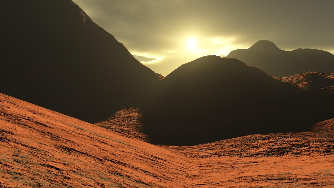 Sunrise From Mars - Pics about space