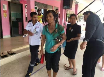 (Photos) Man sets ex-wife on fire in Thailand
