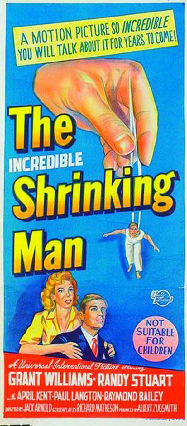 cult movie posters: THE INCREDIBLE SHRINKING MAN (1957)