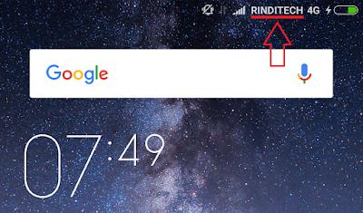 Cara Ganti Nama Operator di Smartphone Xiaomi (Redmi Note 3 Pro)