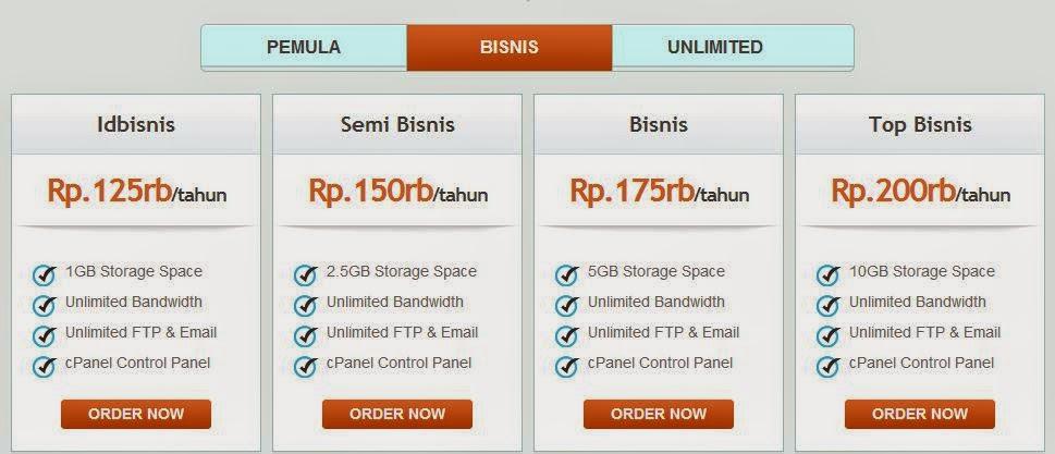 paket bisnis hosting