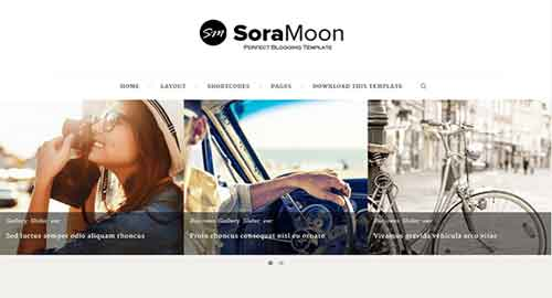 Sora Moon Blogger Template