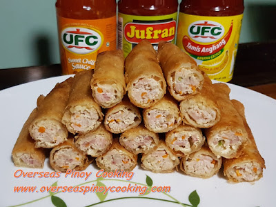 Fried Pork Lumpia Roll with Ham