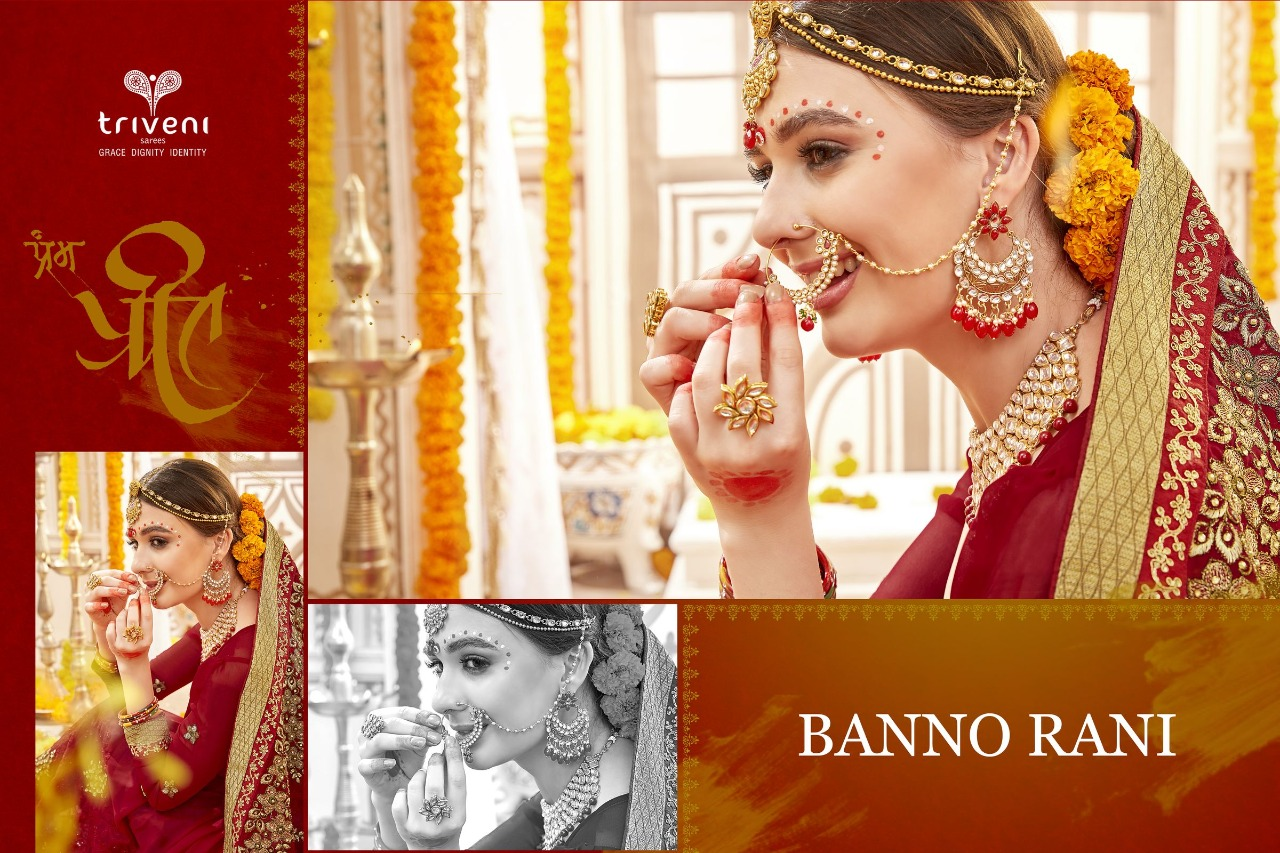 Triveni Banno Rani premium wedding sarees collection