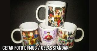 Cetak foto di mug / gelas standar bisa satuan lho!
