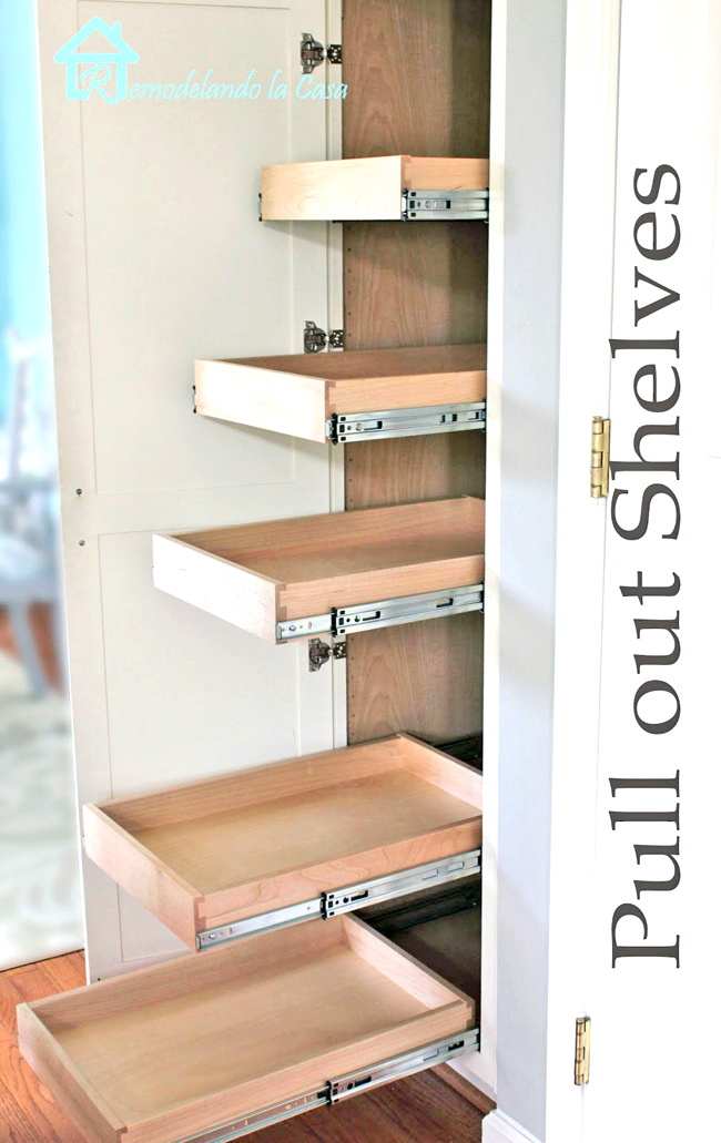 Kitchen Organization Pull Out Shelves In Pantry Remodelando La Casa