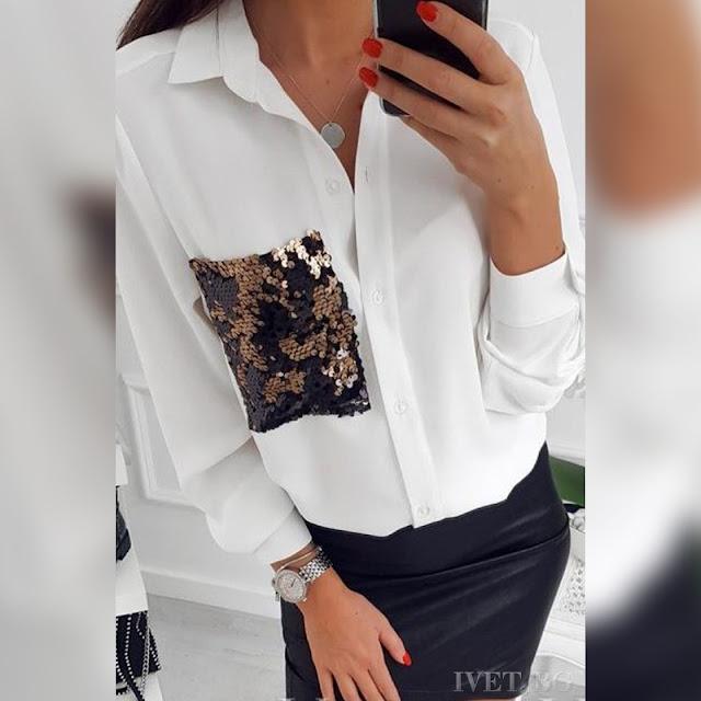 Γυναικείο άσπρο πουκάμισο DAHILA WHITE