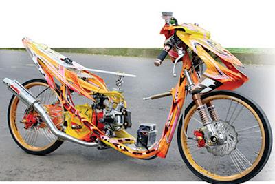 Gambar Modifikasi Yamaha Mio Drag