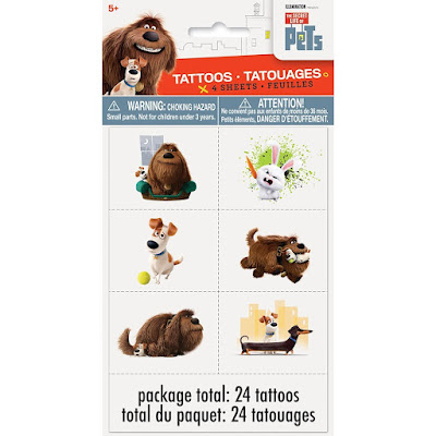 The Secret Life of Party Favors temporary tattoos
