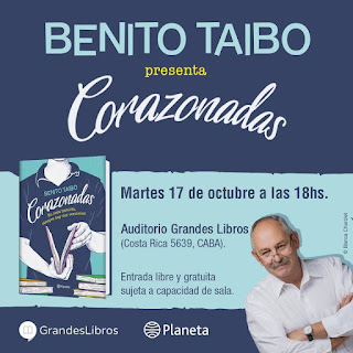 "Presentación de ""Corazonadas"" de Benito Taibo"