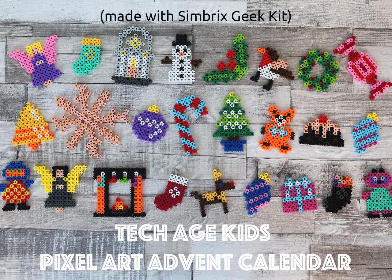 Art Advent Calendar : New kits for simbrix pixel art and puzzles