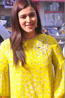 Mannara Chopra Looks Cute in Yellow Salwar Suit ~  Exclusive 57.JPG