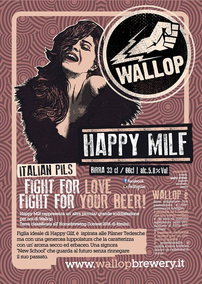 Happy Milf Wallop Beer