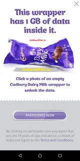 Reliance Jio Cadbury Dairy Milk Offers 2018