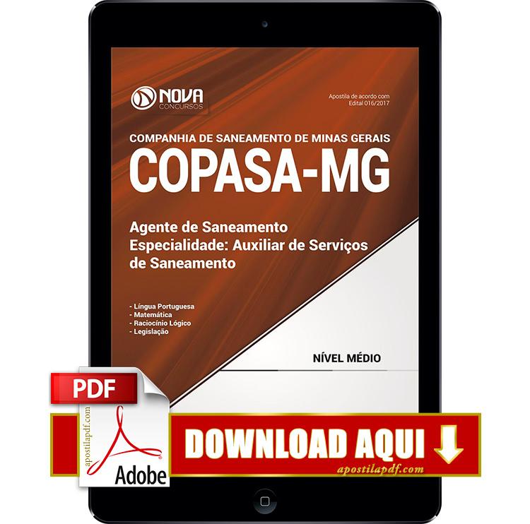 Apostila COPASA MG 2017 PDF Download Auxiliar de Serviços de Saneamento