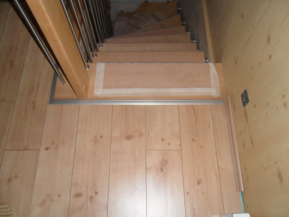 Notre maison passive au pays des 3 frontires Lorraine Chambre rdc  seuil de lescalier