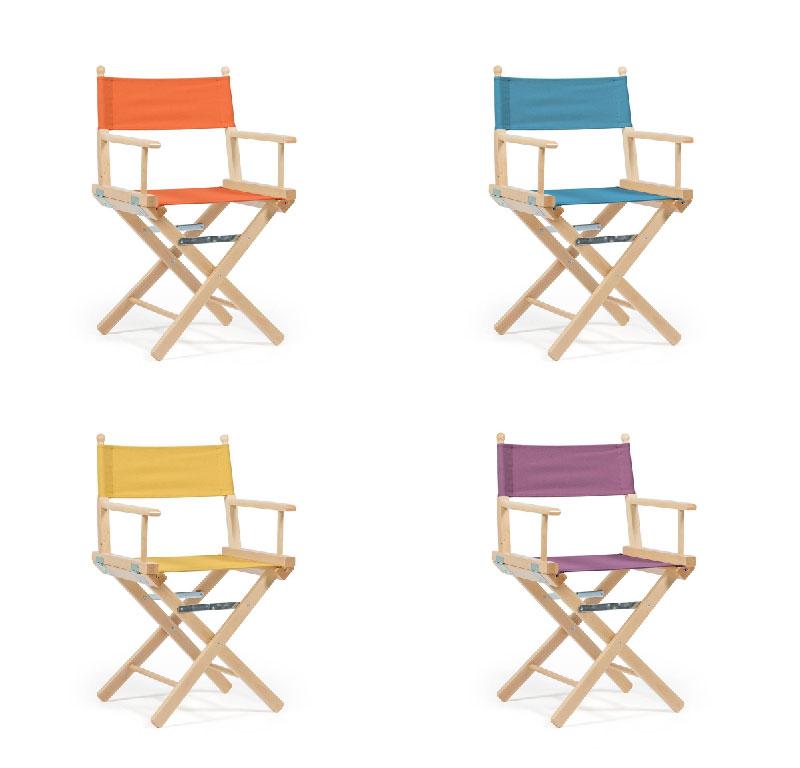 sedia da regista linea Sole Mio di Telami