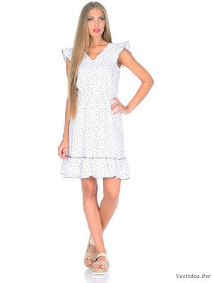 Modas de vestidos blancos para gorditas