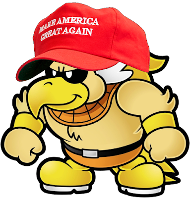 Rawk Hawk Make America Great Again Donald Trump hat Paper Mario
