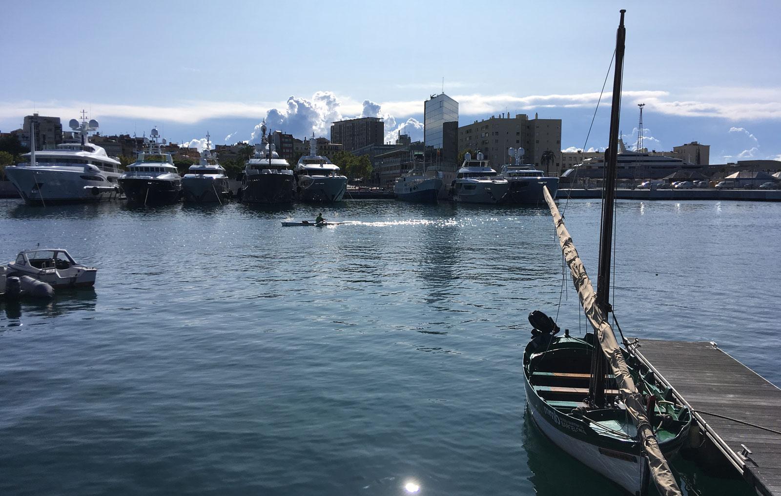 Port Vell, detrás del Maremagnum, octubre 2017