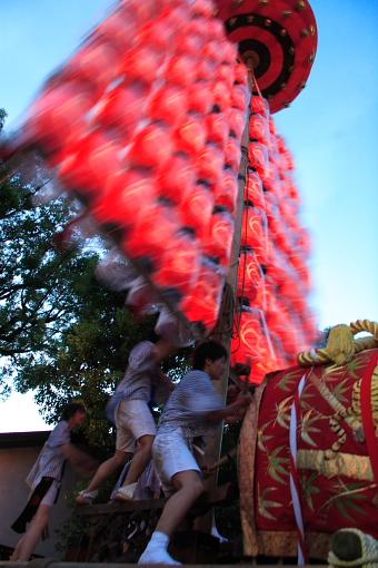 Daigakusai (float called Daigaku), Tamade, Nishinari, Osaka