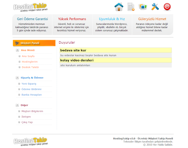 hosting sitesi indir