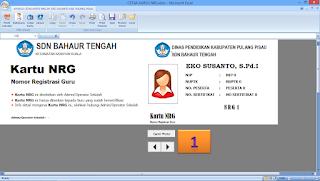 Preview Cetak Kartu NRG