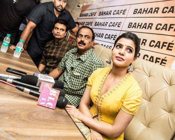 samantha stills at Bahar cafe