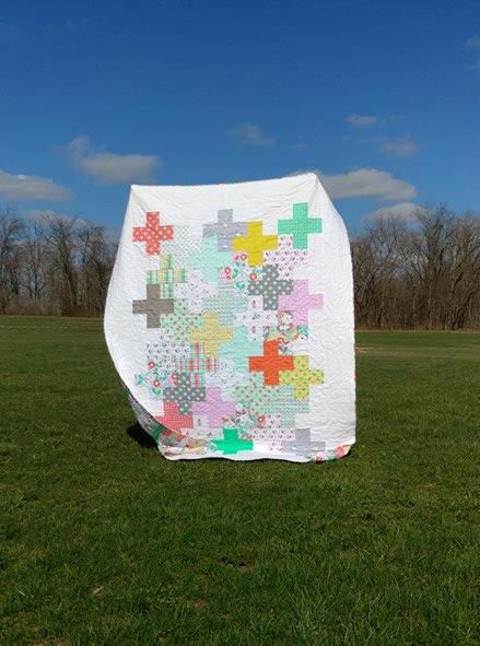 Modern Plus Sign Quilt - Intertwined
