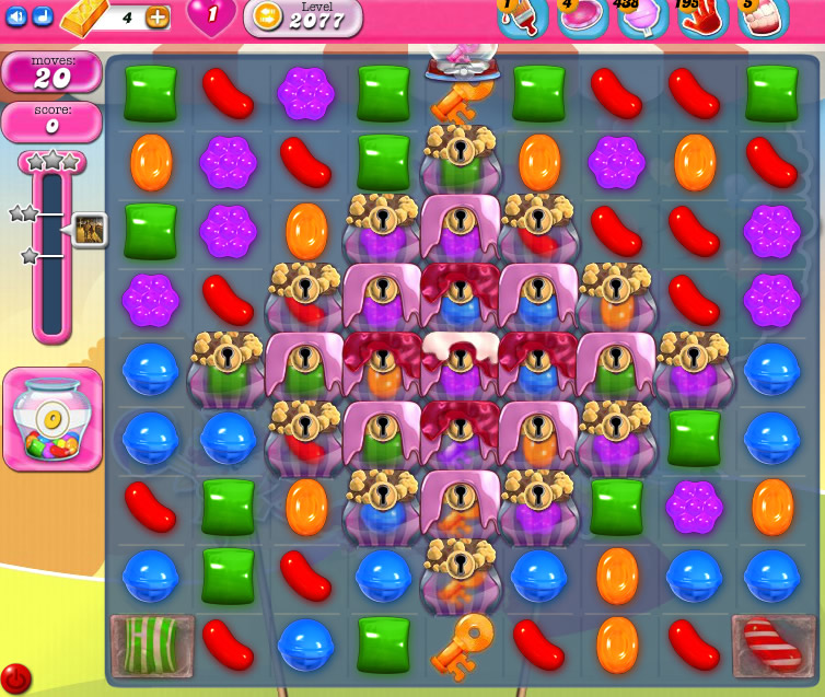 Candy Crush Saga level 2077