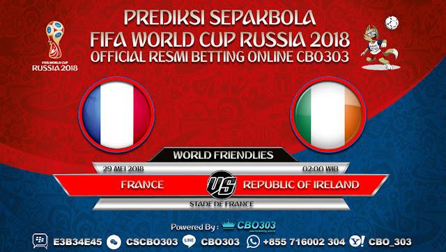 Prediksi Bola France VS Republic Of Ireland 29 Mei 2018