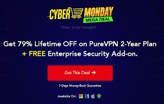 Cyber Monday Mega Sale PureVPN