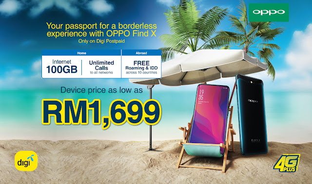 Digi introduces Digi Postpaid plan packages for OPPO Find X with device price as low as RM1,699