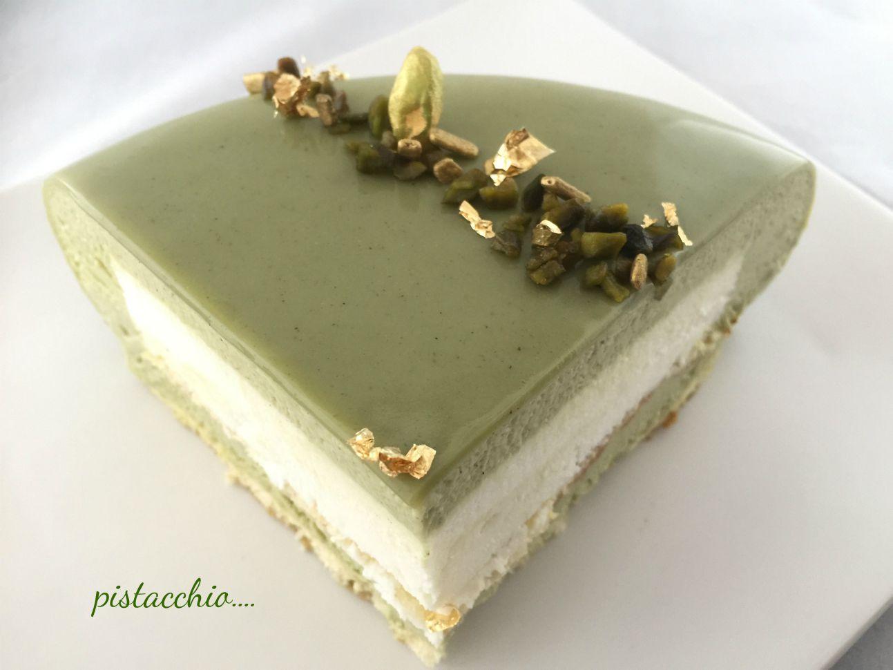 Pistacchio di maurizio santin i dolci di pinella - Glassa a specchio su pan di spagna ...
