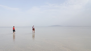 Into the Danakil desert lake